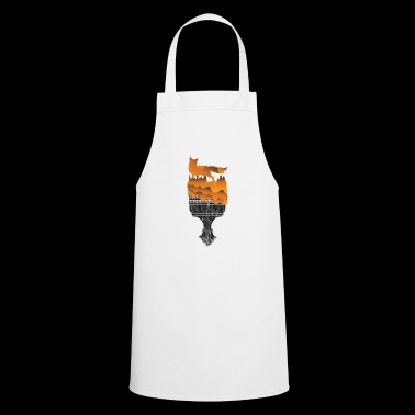 Gift Silhouette Fox Wolf Forest Hunting Wilderness - Cooking Apron