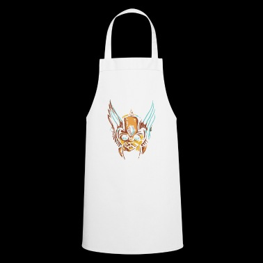 Cat with helmet - Cooking Apron