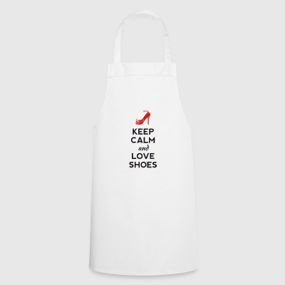 keep calm love shoes shoes high heels sexy heel - Cooking Apron