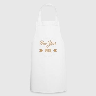 New Year's Eve New Year New Year's Bride Couple Love - Cooking Apron