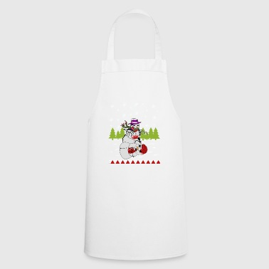 Zombie Snowman Christmas Shirt - Cooking Apron