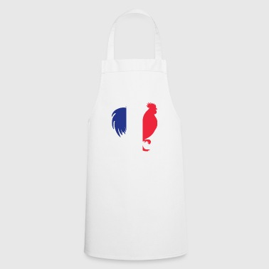 France Gallic Rooster In French Flag Color French - Cooking Apron