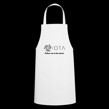 IOTA - Follow me to the moon! IOTA Crypto Currency - Cooking Apron