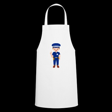 Policeman cartoon thumbs up gift - Cooking Apron