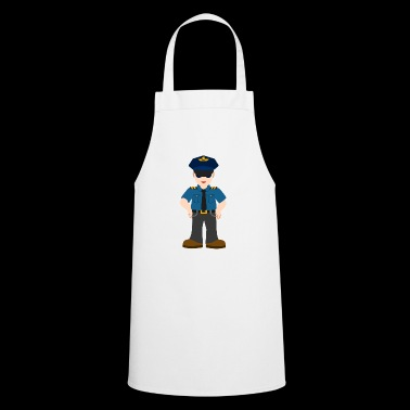 Policeman cartoon disguised way gift idea - Cooking Apron
