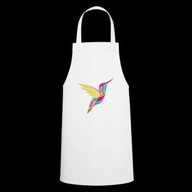 Colorful hummingbird in geo style abstract gift idea - Cooking Apron