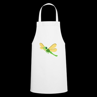 Dragonfly green flying smile cartoon gift idea - Cooking Apron