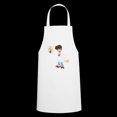 Cartoon Scientist Test Tube Heurika Gift - Cooking Apron