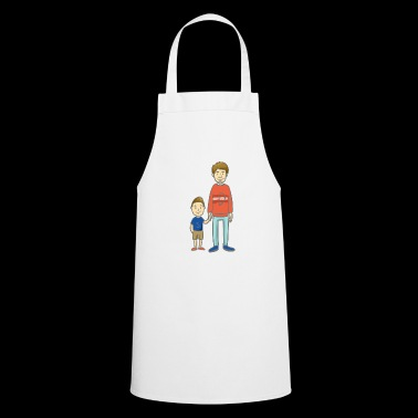 Son and Dad - son with dad - Cooking Apron