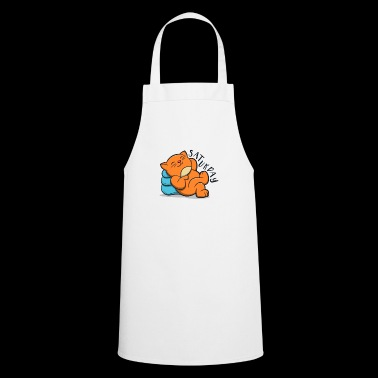 Cute Lovely Cat Lazy And Relax Saturday - Cooking Apron