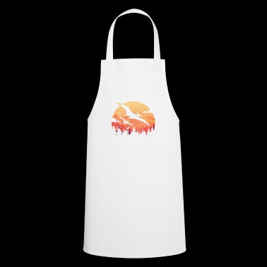 Dino gift child son dinosaur silhouette Rex - Cooking Apron