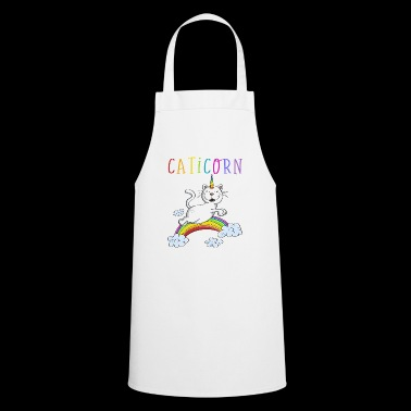 Rolig Caticorn Cat - Unicorn Cats Rainbow - Förkläde
