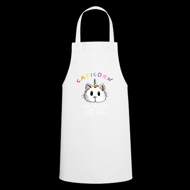 Kawaii Caticorn Unicorn Cat - Magic Unicorn - Cooking Apron