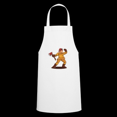 Firefighter Ax Comic Gift Idea - Cooking Apron