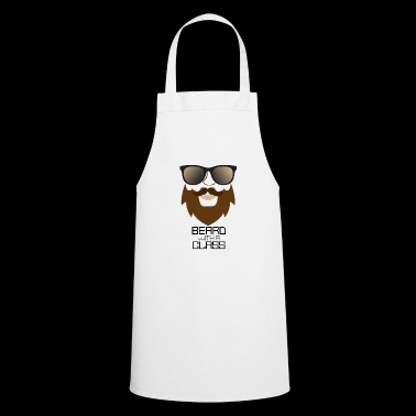 Beard with sunglasses - funny gift for man - Cooking Apron