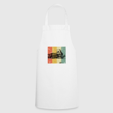 Railway steam locomotive locomotive train gift - Cooking Apron