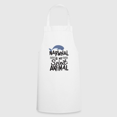 Funny Narwhal is My Spirit Animal T-shirt - Delantal de cocina