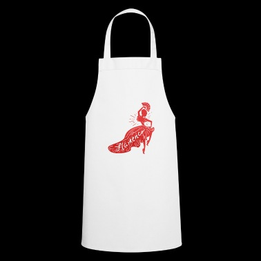 Flamenco red dancing lady gift idea - Cooking Apron