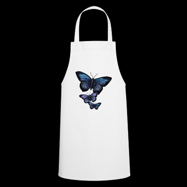 Butterfly Animal Vintage Flying Flowers Retro - Cooking Apron