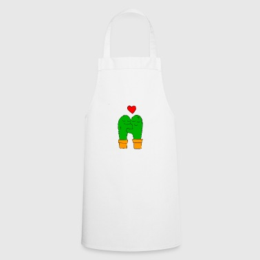 cactus in love - Cooking Apron