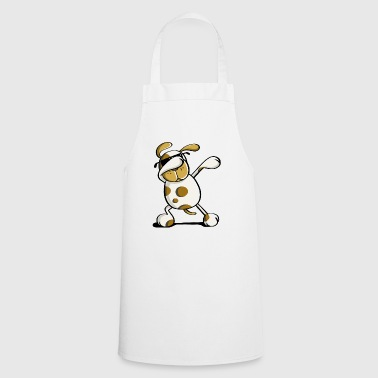 Dusty Dab Dancing Dog with Glasses - Dabbing Cool - Cooking Apron