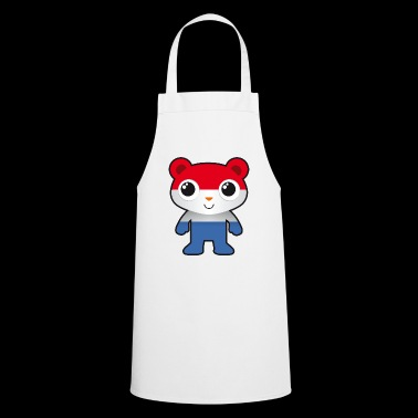 Bear in colors of the Holland flag / fan / soccer - Cooking Apron