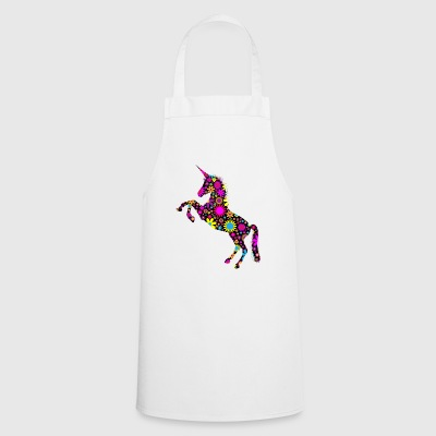 Floral Unicorn silhouette - Cooking Apron
