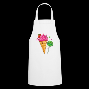 Happy ice cream and lollipops are in love - Cooking Apron