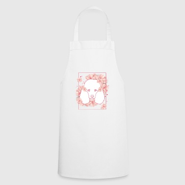 Dog Animal Flower Gift Girl Poodle Icon - Cooking Apron