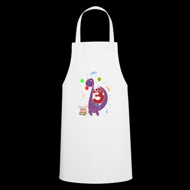Dinosaur dino gift 3rd birthday boy - Cooking Apron