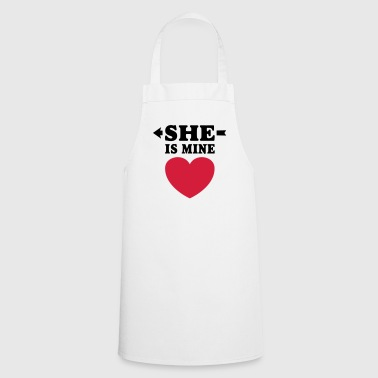 I love you my girlfriend  boyfriend - Cooking Apron