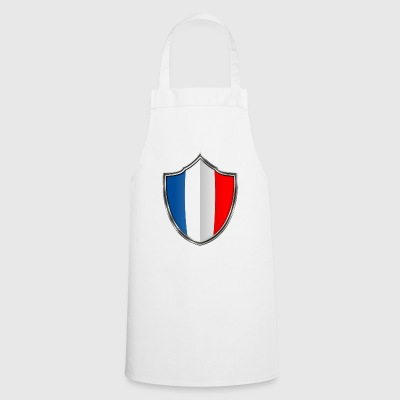 France flag crest silver 015 - Cooking Apron