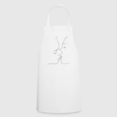 Sketch of kiss - Cooking Apron