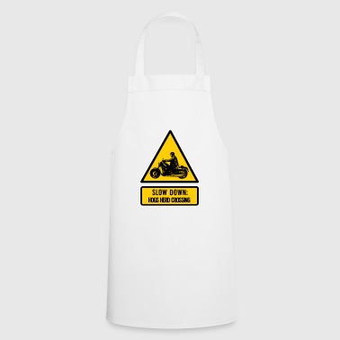 slow down: hogs herd crossing - Cooking Apron
