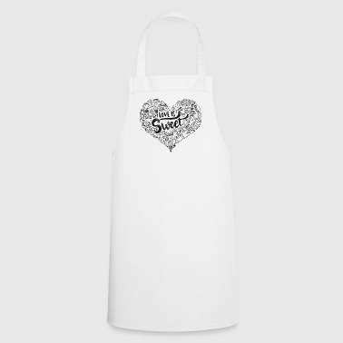 Love is sweet black - Cooking Apron