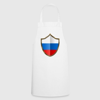 Russia Flag Coat of Arms Gold 016 - Cooking Apron