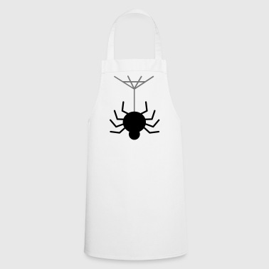 Creepy spider with spider web - Cooking Apron