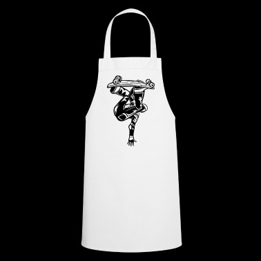 Skater / skateboarder 03_black - Cooking Apron