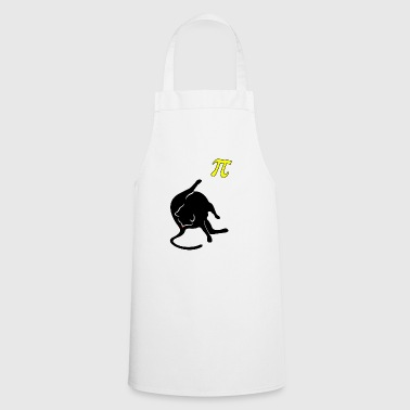 Cat licks butt and thinks of Pi math - Cooking Apron