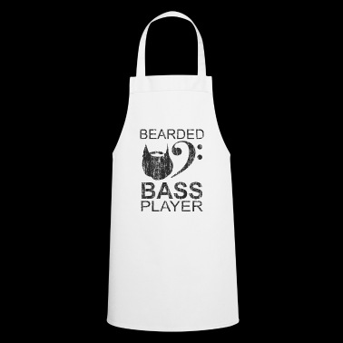 Bearded electric bass player gift - Cooking Apron