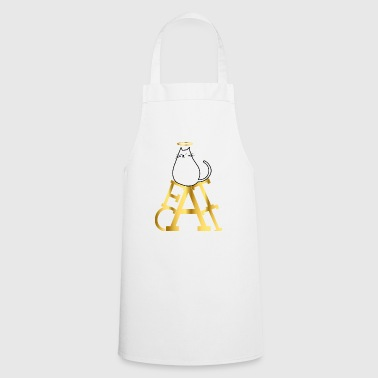 Fat cat serve gold on throne gift idea - Cooking Apron