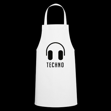 Headphones and techno - Cooking Apron