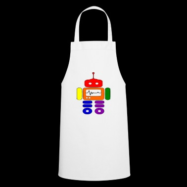 gay pride robot funny - Cooking Apron