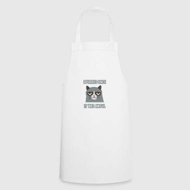 Chat grincheux - Tablier de cuisine