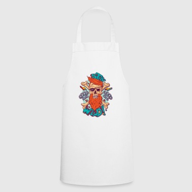 stay wild - Skull with eye patch and beard - Cooking Apron