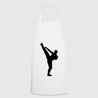 Martial arts silhouette - Cooking Apron