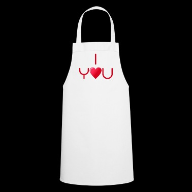 I love you v1 red - Cooking Apron