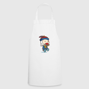 Little karate male cute hat blue clothes - Cooking Apron