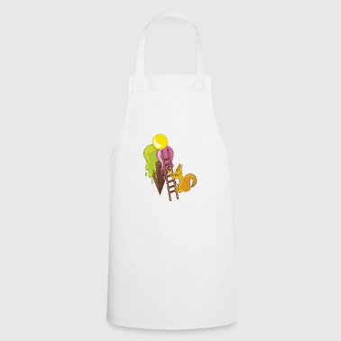 squirrel climbing on ice cream - Cooking Apron
