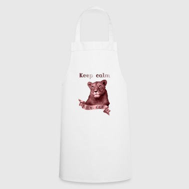 Keep calm Slow Down copper animal collection - Cooking Apron